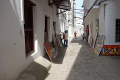 Fantastiska målningar till försäljning,  Stone Town (Zanzibar Town), Unguja.