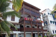 Arkitekturen längs strandpromenaden,  Stone Town (Zanzibar Town), Unguja.