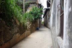 Förfallen gränd i Stone Town (Zanzibar Town), Unguja.