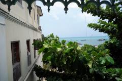 Utsikten från balkongen på Old Dispensary, Stone Town (Zanzibar Town), Unguja.