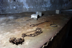 Slavkammaren som ligger i anslutning till East Africa Slave Trade Exhibit, Stone Town (Zanzibar Town), Unguja.
