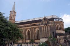 Anglican Cathedral byggd på platsen för slavmarknaden, Stone Town (Zanzibar Town), Unguja.