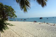 Den publika stranden i Stone Town (Zanzibar Town), Unguja.