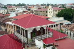 Utsikten från takterrassen på The Swahili House, Stone Town (Zanzibar Town), Unguja.