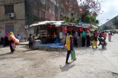 Gatuscen längs Karume Road, Ng'ambo, Zanzibar Town, Unguja.