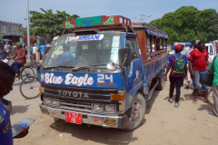 Dalla-Dalla nummer 309 med destination Jambiani, Mwanakwerekwe Market, Zanzibar Town, Unguja.