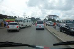 Frontplatsen vid chauffören på väg till Kizimkazi, Unguja.