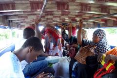 Mina medpassagerare i Dalla-Dallan på väg tillbaka till Zanzibar Town, Unguja.