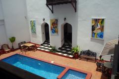 Utsikten från min balkong på Dhow Palace Hotel, Stone Town, Unguja.