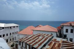 Utsikten från takterrassen på Dhow Palace Hotel, Stone Town, Unguja.