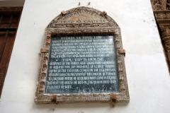 Världsarvsskylt  på den kända slavhandlaren Tippu Tip's residens, Stone Town (Zanzibar Town), Unguja.