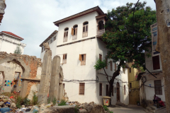 Den kända slavhandlaren Tippu Tip's residens, Stone Town (Zanzibar Town), Unguja.