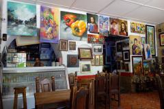 Helt underbart kaffe på Café La Polita vid Parque La Libertad, San Gil.