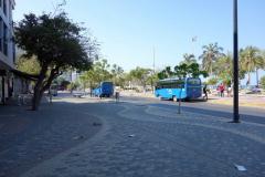 Gatuscen längs Carrera 1C, Santa Marta.