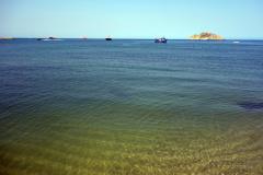 Stranden i centrala Santa Marta.