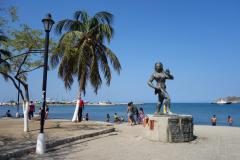 Monument längs strandpromenaden, Santa Marta.