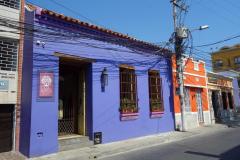 Arkitekturen längs Carrera 2, Santa Marta.