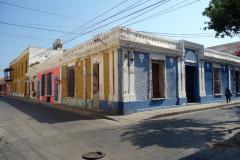 Arkitekturen i korsningen Carrera 2-Calle 17, Santa Marta.
