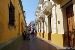 Gatuscen längs Carrera 3, Santa Marta.