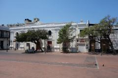 Arkitekturen vid Plaza de La Catedral, Santa Marta.