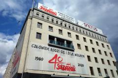 Precis 40 år sedan Solidaritetsrörelsen legaliserades i Polen, Gdańsk.