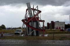 Monument utanför entrén till European Solidarity Centre, Gdańsk.
