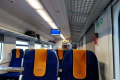 På tåget mallan Gdańsk och Sopot.
