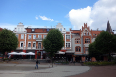 Gatuscen i centrala Sopot.