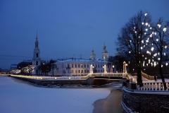 Griboyedov-kanalen med Nikolsky Cathedral i bakgrunden, Sankt Petersburg.