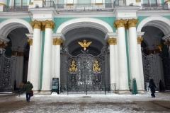 Huvudentrén till Vinterpalatset, Sankt Petersburg.