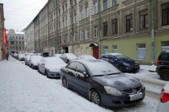 Gatuscen i centrala Sankt Petersburg.