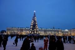 Palatstorget med Vinterpalatset i bakgrunden, Sankt Petersburg.