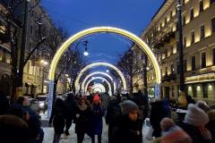 Sidogata till Nevsky Prospekt, Sankt Petersburg.