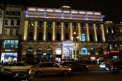 Vacker arkitektur längs Nevsky Prospekt, Sankt Petersburg.