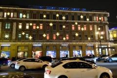 Arkitekturen längs Nevsky Prospekt, Sankt Petersburg.