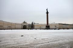 Alexanderkolonnen och Generalstabsbyggnaden, Sankt Petersburg.