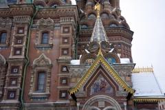 Del av Uppståndelsekyrkan, Sankt Petersburg.
