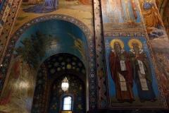 Interiören i Uppståndelsekyrkan, Sankt Petersburg.