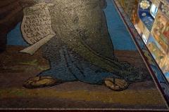 Exempel på den fantastiska mosaiken i Uppståndelsekyrkan, Sankt Petersburg.