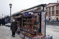 Marknaden längs Griboyedov-kanalen, Sankt Petersburg.