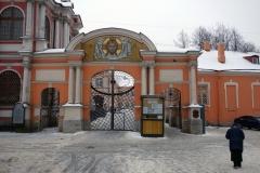 Ingången till Alexander Nevsky Monastery, Sankt Petersburg.