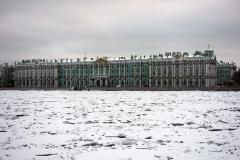 Vinterpalatset från Strelka, Sankt Petersburg.