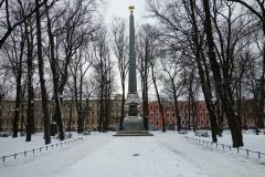 Rumyantsev obelisk, Vasilyevsky island, Sankt Petersburg.