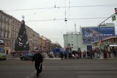 Övergångsstället vid Vasileostrovskaya metrostation, Vasilyevsky island, Sankt Petersburg.