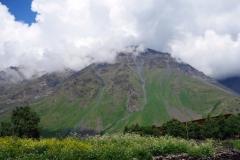 Kaukasus-bergen från Stepantsminda.