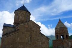 Gergeti Trinity-kyrkan på 2170 meters höjd.