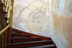 Entré-trappan till restaurang Pur Pur, Tbilisi.