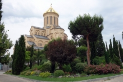 Georgiens största katedral, Sameba Cathedral, Tbilisi.