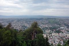 Utsikten över Tbilisi från Mtatsminda Park, Tbilisi.