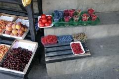 Bär till salu i närheten av mitt hotell i Tbilisi.